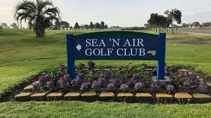 SEA 'N AIR- GOLF COURSE- NAS NORTH ISLAND sign