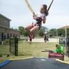 Girl in a Trampoline in Texas, Fort Hood