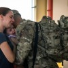 Soldier saying goodbye to his Family in El Paso, Texas