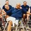Navy Wounded Warrior Bethesda- serviceman on wheelchair