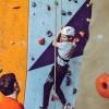 Girl Wall Climbing in Manama, Bahrain