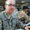 Army in front of the Computer in Texas, Fort Hood