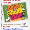 Back to School Bash Flyer in Texas, Fort Hood