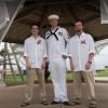 3 men posing for a picture in Ocean Breeze Mayport Jacksonville, Florida
