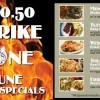 Strike Zone Cafe Menu in Eielson, Alaska