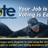Navy Voting - NSA Bethesda  guy in black cap