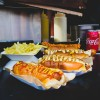 Hotdog Sandwiches and Fries with Beverages in Texas, San Antonio