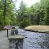 Saratoga State Park River in new York