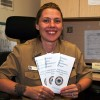 SARP counselor with brochures