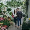 Couple Wandering in the Botanical Conservatory in Tacoma, Washington State