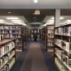 Library shelves in Pensacola, Florida
