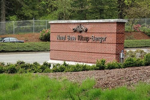 NBK Bangor front gate in Washington, U.S