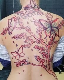 Back Tattoo in Sasebo, Japan