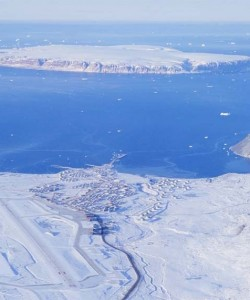 Aerial Picture Of Thule Air Base in Greenland