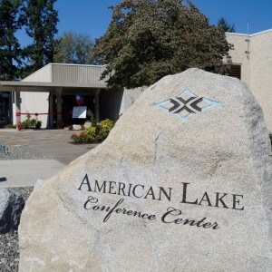 American Lake Sign in Tacoma, Washington State