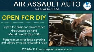 Air Assault Auto Banner in Kentucky, Fort Campbell