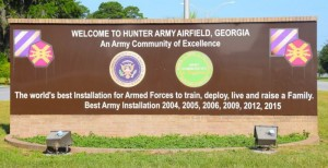 Hunter Army Airfield-sign