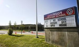 Anderson Elementary School Logo in Eielson, Alaska