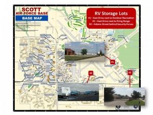 RV Storage Map in Illinois, Scott AFB