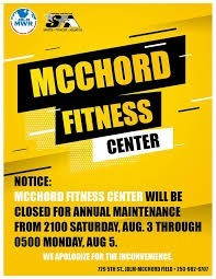 McChord Fitness Center Flyer in Tacoma, Washington State