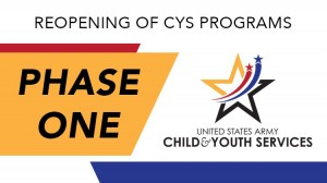 CYS Reopening Phase One Banner in Texas, Fort Hood
