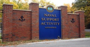 NSA Front Gate in Annapolis, U.S