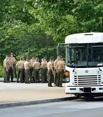 U.S. Military Bus