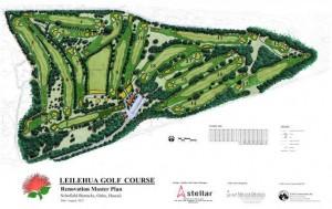 Leilehua Golf Course Map in Wahiawa, Hawaii