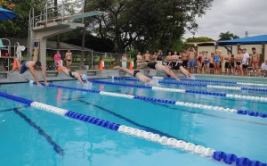 Scott Pool Swimming Competition in Pearl Harbor, Hawaii