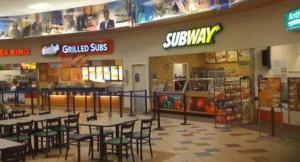 Subway food Court in Eielson, Alaska