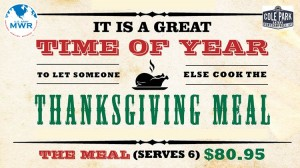 Thanksgiving Meal Banner in Kentucky, Fort Campbell
