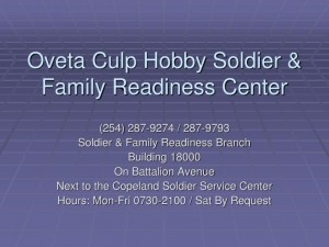 Oveta Culp Hobby and Family Readiness Center in Texas, Fort Hood