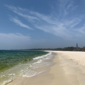 Barrancas White Beach in Pensacola, Florida