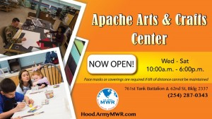 Apache Arts Crafts Opening Banner in Texas, Fort Hood