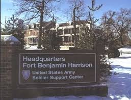 Fort Benjamin Harrison base- sign
