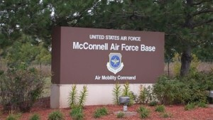 mcconnell air force base-sign