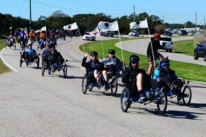 Navy wounded warrior team in Pensacola, Florida