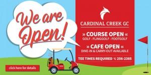 Cardinal Café Banner in Illinois, Scott AFB