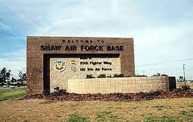 shaw air force base-sign