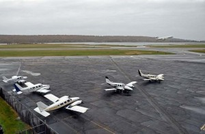 Groton-New London Airport Runway in Connecticut