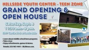 Hillside Youth Center Grand Opening Banner in Tacoma, Washington State