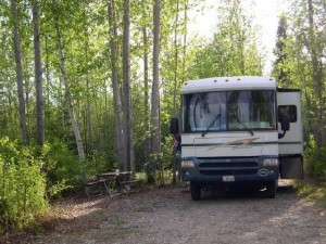 Bear Lake Campground in Eielson, Alaska