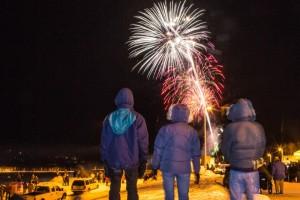 Fireworks in Eielson, Alaska