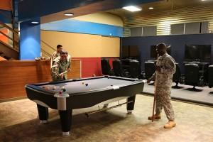 Active Duty on a Pool Game in Wahiawa, Hawaii