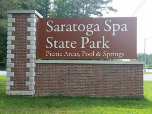 Saratoga State Park Signage in New York