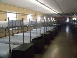 Military Barracks room