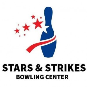 Stars and Strikes Bowling Center Logo in Illinois, Scott AFB