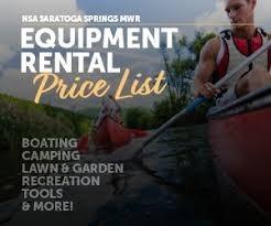 Equipment Rental-NSA Saratoga Springs