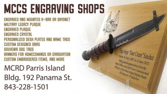 Engraving Shop - MCRD Parris Island