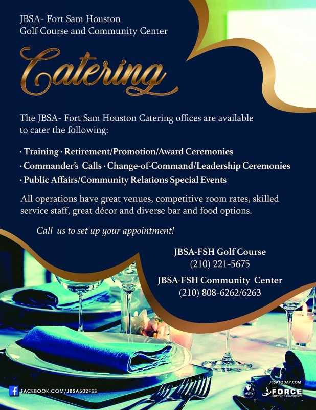 Golf Catering - Joint Base San Antonio-Fort Sam Houston